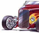Concept art of Heidt's Hot Rod SHop 32 Ford Highboy