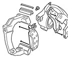 Mustang disc brake caliper exploded view for instruction sheet