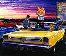 Skyvue Drive-In Theater Limited Edition Print with 69 Plymouth GTX