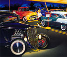 Ted's Drive-In limited edition print, 33 Ford hot Rod